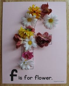 F is for flowers or feathers or fringe. Editable alphabet pages for fun ABC projects. Alphabet activities for preschool, pre-k, and early childhood education. Create a letter book or use for letter of the week activities.
