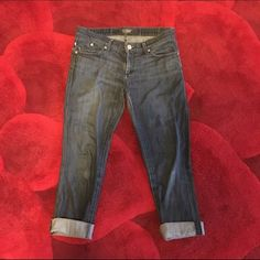 Rock & Republic premium denim capris pants size 29 Rock & Republic premium denim capris pants size 29. These were cut from a pair of straight jeans to make Capri pants and cuffed. Rock & Republic Jeans Ankle & Cropped