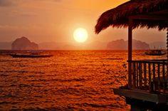 Sunset in El Nido Palawan, Philippines