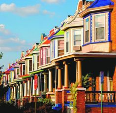 IT TAKES A VILLAGECourtesy PhotoRow houses in Baltimore's Charles Village  known as 'The Painted Ladies' are shown.Purchase this photo