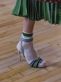 Valentino Resort 2018 Fashion Show Details, Cruise, New… Valentino Resort, Valentino Sandals, Socks And Sandals, Shoes Sandals, Mode Shoes, Mein Style, Pumps, Stilettos, Shoe Art