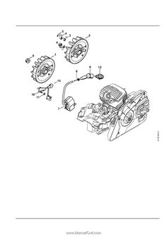 Stihl MS 271 Chainsaw (MS271) Parts Diagram, Tank Housing
