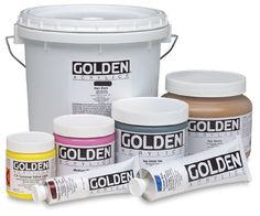 "Golden Heavy Body Artist Acrylics are known for their exceptionally smooth, thick, buttery consistency, and for their excellent permanency and lightfastness. These paints have the ability to ""stand up"" and retain brush strokes or palette knife marks on the canvas."