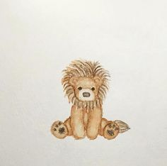 #watercolor #teddybear #bear #lion #toy #stuffedanimal