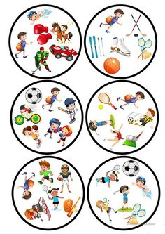 Sports Dobble game worksheet - Free ESL printable worksheets made by teachers Teaching Nouns, Double Game, English Activities, Sports Games, Matching Games, English Lessons, Printable Worksheets, Math Games, Teaching English