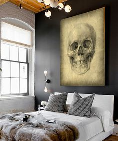 Another great find on #zulily! Ash Skull Gallery Wrapped Canvas #zulilyfinds