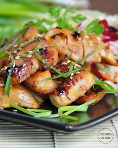 Chicken Recipe : Honey-Teriyaki Glazed Grilled Chicken