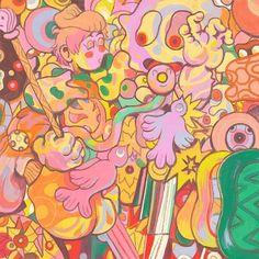 Reposting @tarttalkstoo: Crazy, wild, beautiful illustration by California artist Chris Youssef (@kyrolos).⠀ ⠀ #art #illustration #painting #ChrisYoussef #tarttalks #contemporaryart #newcontemporary #surrealism #lowbrowart #lowbrowpopsurrealism #popsurrealism #instaart #contemporaryart #emergingart #supportart