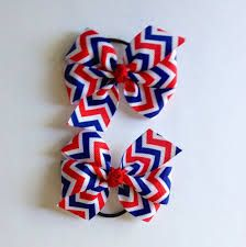 homemade 4th of july hair bows