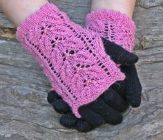 Fingerless gloves ~ Pink knit wrist warmers ~ Unique gift for girl friend, you are my sunshine - pinned by pin4etsy.com