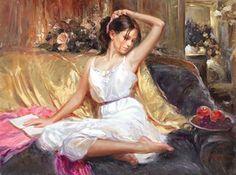 Vladimir Volegov He likes to paint girls reading... Or liked.
