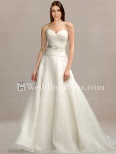 Simple Organza Gown with Detachable Sash BC258
