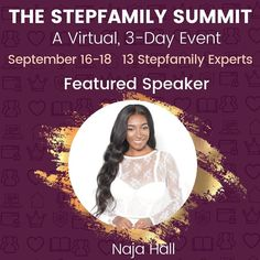 Happy Monday! I'm super excited to announce that I'm a featured Speaker at this year's #StepfamilySummit. Since we couldn't all get together in person this year, the Summit is available totally free! All you have to do is sign up and you get access to all 3 days and all 13 dynamic speakers! Visit @stepmomcoach to reserve your spot FOR FREE today! #swipe➡️➡️ #linkinbio👆 #stepmomadvice #najahall #blendedfamily #bonusmom #coparenting #coparenting Coparenting, Super Excited, Happy Monday, Speakers, Advice, Sign, Free, Tips, Signs