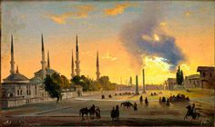 Ippolito Caffi, «Constantinople- The Hippodrome»