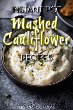 Cauliflower mashed potato recipes are the perfect healthy alternative to mashed potatoes. They even can be considered keto recipes, in some cases. Homemade Mashed Potatoes, Cauliflower Mashed Potatoes, Mashed Potato Recipes, Cauliflower Recipes, Best Instant Pot Recipe, Instant Pot Dinner Recipes, Side Dish Recipes, Healthy Dinner Recipes, Keto Recipes