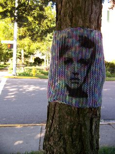 Yarnbombing in Yellow Springs