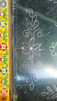 Rangoli Side Designs, Simple Rangoli Border Designs, Rangoli Designs Latest, Boarder Designs, Rangoli Borders, Free Hand Rangoli Design, Small Rangoli Design, Rangoli Ideas, Easy Rangoli
