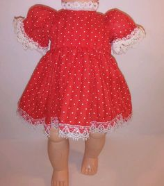"Vintage Doll Dress Red White Polka Dot 1950s Littlest Angel 10 11"" Size Mint | Dolls & Bears, Dolls, Clothes & Accessories | eBay!"