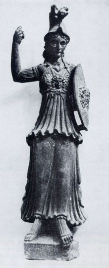 Allat-Minerva. Estatua del siglo II d.c. de As-Suwayda, Siria (provincia romana). Museo Nacional de Damasco.