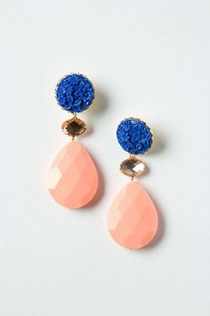 coral earrings Anthro