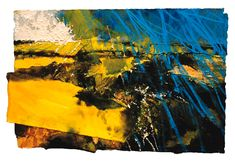 David Tress   'Fields,Chaldon Herring (Dorset)' Mixed Media on Paper 39 x 61 cm.