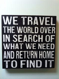 We travel the world