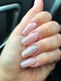 Nude coffin nails #nailsonfleek