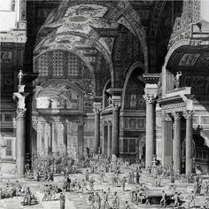 161-SEVERAN DYNASTY-(193AD TO 476AD)-FALL: recreation of the Frigidarium of Baths of Diocletian, 298-306 AD.