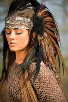 feather headdress - Google Search