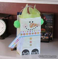 Snowman Sweet Treat Bag | Christmas crafts