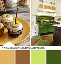 Tuesday Huesday: A Caramel Apple-Inspired Kitchen (http://blog.hgtv.com/design/2013/09/10/green-brown-kitchen-color-palette-ideas/?soc=pinterest)
