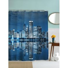 14.94$  Buy here - http://dijj2.justgood.pw/go.php?t=208195902 - Night of City Print Waterproof Polyester Shower Curtain