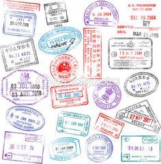 여권 스탬프 — Stock Illustration #6088575