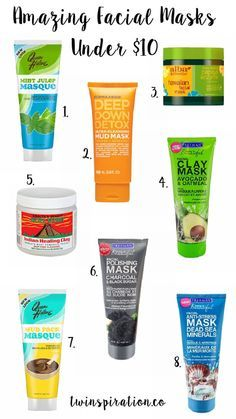 Amazing Facial Masks Under $10 by Twinspiration at http://twinspiration.co/facial-masks/