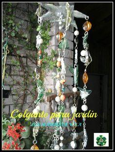 DIY Colgante para el jardin los hobies de yola / Glass Wind Chime (hangi...