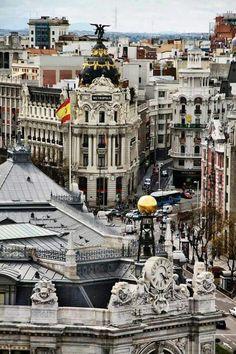 Madrid. Vista desde el Palacio de Cibeles