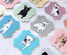 French Bulldog Die Cut Collection - Eco-friendly Set of 12 - Scrapbooking Embellishment on Etsy, $8.00