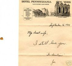 Love letters. Even ones as simple as this were much better than texts. #bringthemback