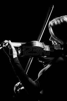 Violist violist Orchestra muziekinstrumenten Het spelen van klassieke muziek  Stockfoto