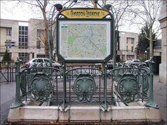 Mérto parisien : oeuvre d'Hector Guimard