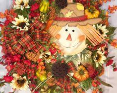 Fall Wreath Mesh Wreath Autumn Wreath Burlap by WilliamsFloral