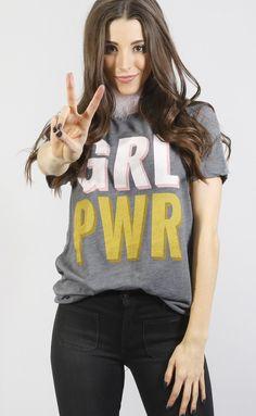 friday + saturday: grl pwr t shirt