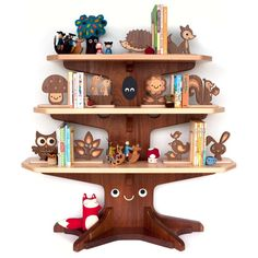 Gorgeous natural wooden bookends, we would love the squirrel for our little squirrel, and perhaps the sappling too!