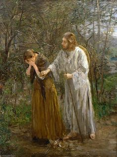 woman, why weepest thou? by Fritz von Uhde Frye Art Museum Seattle Pictures Of Jesus Christ, Bible Pictures, Catholic Art, Religious Art, Jesus Painting, Bride Of Christ, Jesus Art, Biblical Art, Bible Art