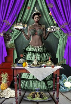 """""""My works simultaneously seeks out comfort and uneasiness and thus creates the kind of tension that results in a twist, or sting"""" – Karin Miller Print Foto, Collages, South African Artists, Africa Art, Popular Art, Afro Punk, Black Artists, World Of Color, Weird And Wonderful"""