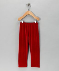 Take a look at this Red Velvet Leggings - Infant & Toddler by Dolce Girl on #zulily today!