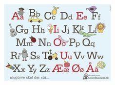Plakater med alfabet og tal til børneværelset | JuniorBusiness