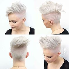 Icy Etched Pixie Hawk  Cut By @fernthebarber  Model @iamderby  #UCFeed #BuzzCutFeed #Undercut #Undercuts #SideCut #SideShave  #ShavedNape #NapeShave #BarberArt #BarberLife #PlatinumHair #PixieCut #ShortHairDontCare #LadyHawk  #BuzzCut #UndercutNation  #ModernSalon #HotOnBeauty