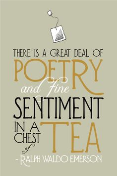 Poetry in a Chest of Tea Print - Kitchen Art Poster
