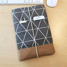 Tablet-PC-Taschen - iPad / Galaxy Tablettasche mit veganem Leder - ein Designerstück von Kuratist bei DaWanda